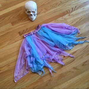 Vintage sequined tulle fairy tu tu skirt